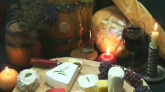 Cheese Platter Elegance Stock Footage