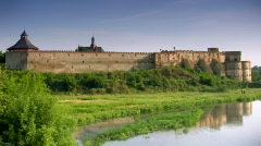 Medzhybizh castle Stock Footage