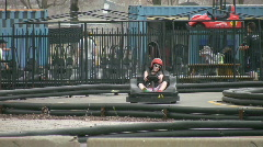 Go-karters. Stock Footage