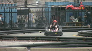 Stock Video Footage of  Go-karters.