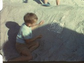 Stock Video Footage of At the beach (vintage 8 mm amateur film)