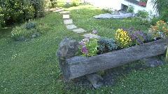 Swiss Farm With Garden Stock Footage