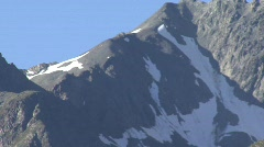 Mountain Behind Swiss Village Stock Footage
