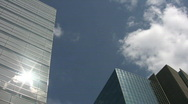 Stock Video Footage of Office buildings. Timelapse clouds.
