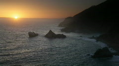 Big Sur sunset  - stock footage