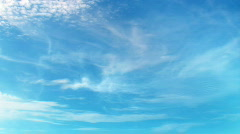 FullHD 3d blue sky with perfectly moving white clouds - timelapse Stock Footage