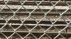 Fence and train Stock Footage