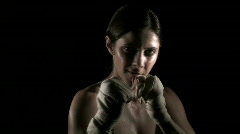 Female boxer bare knuckle V3 - HD  Stock Footage