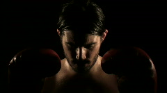 Male boxer pose V1- HD  Stock Footage