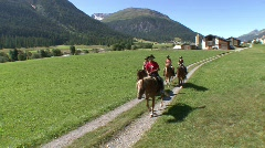 Group Of Horse Riders Stock Footage