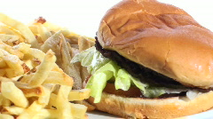 Burger and fries loop V1 - HD  Stock Footage