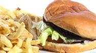 Burger and fries loop V1 - HD  Stock Footage