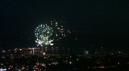 Stock Video Footage of FANTASTIC HARBOR FIREWORKS