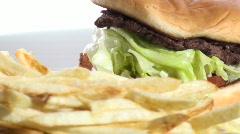 Burger and fries close-up loop V2 - HD  Stock Footage