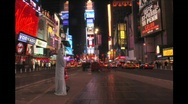 Stock Video Footage of Times Square Night Timelapse