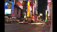 Stock Video Footage of Night Times Square Street Timelapse