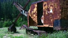 old crane - stock footage