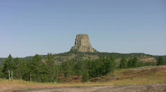 Devils Tower Stock Footage