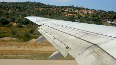 View out an airplane window Stock Footage