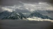 Hurricane ridge timelapse2 Stock Footage