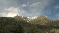 Mountains and  fast clowds 2 Stock Footage