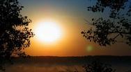 Time lapse sunrise. Stock Footage