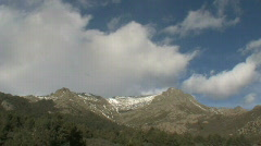 Mountains and  fast clowds Stock Footage