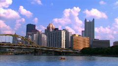Pittsburgh Skyline Timelapse - stock footage