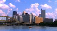 Pittsburgh Skyline Timelapse Stock Footage