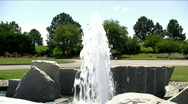 Stock Video Footage of botanical gardens fountain 1