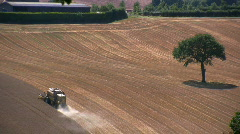 Harvesting the wheat Stock Footage