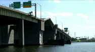 Stock Video Footage of bridge opening Chesapeake