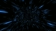 Flying Through Hyperspace (24fps) Stock Footage