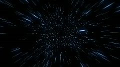 Flying Through Hyperspace (30fps) Stock Footage
