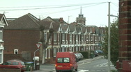 Stock Video Footage of London Suburb Street