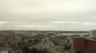 Stock Video Footage of City View from Roof Timelapse