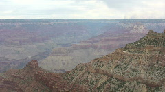 Grand Canyon from South Rim pan left Stock Footage