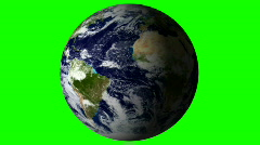 Planet earth green screen V2 - HD  Stock Footage