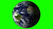 Stock Video Footage of Planet earth green screen V2 - HD