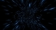 Stock Video Footage of Flying Through Hyperspace, Spinning (30fps)