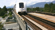 Stock Video Footage of Vancouver Rapid Transit Train