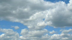 On the sky grey-white clouds float Stock Footage