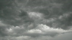 Grey clouds rush on the sky - stock footage