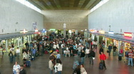 People in a station hall. Time lapse Stock Footage