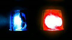 Police blue red lights twin Stock Footage