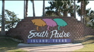 Stock Video Footage of South Padre Sign zoomout