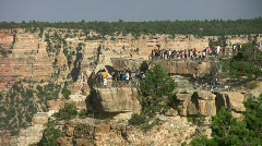 Grand Canyon lookout with tourists 15 - stock footage