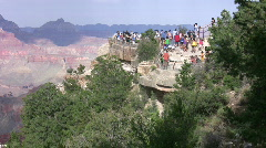 Grand Canyon lookout with tourists 5 - stock footage