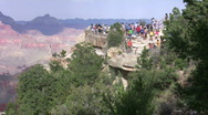 Stock Video Footage of Grand Canyon lookout with tourists 5