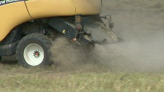 New Holland combine harvester rear end Stock Footage